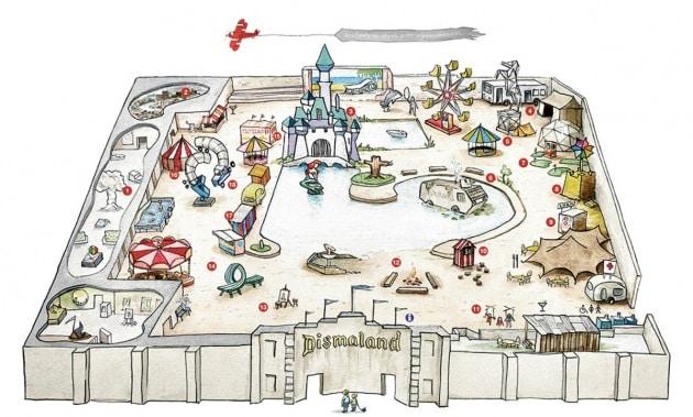 Apre Dismaland, il tetro parco dei divertimenti di Banksy