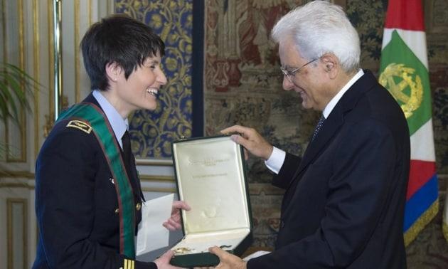 Samantha Cristoforetti torna in Italia. E diventa Cavaliere