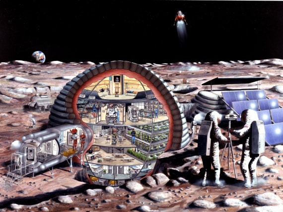 vintage: coloni sulla Luna