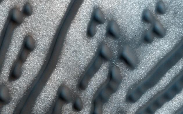 Il codice Morse delle dune marziane
