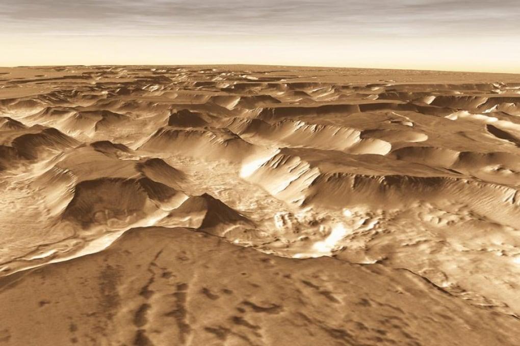 Noctis Labyrinthus, la più grande rete di canyon del Sistema Solare