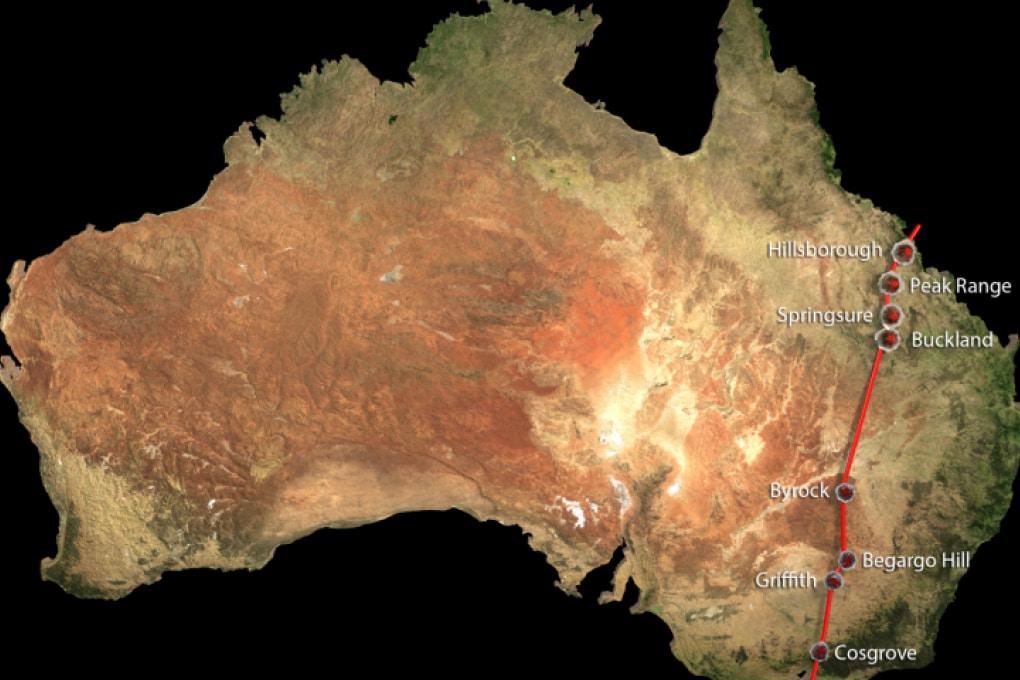 Una catena di vulcani lunga 2.000 chilometri