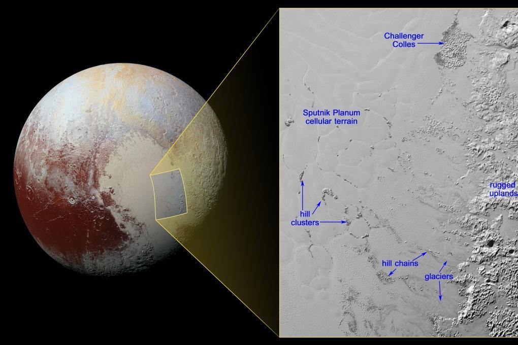 Le colline galleggianti di Plutone