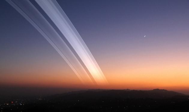 Come sarebbe la Terra, con gli anelli di Saturno