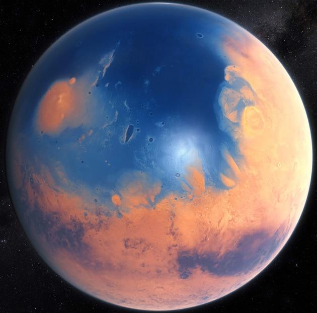 Quando Marte era stravolto da mega tsunami