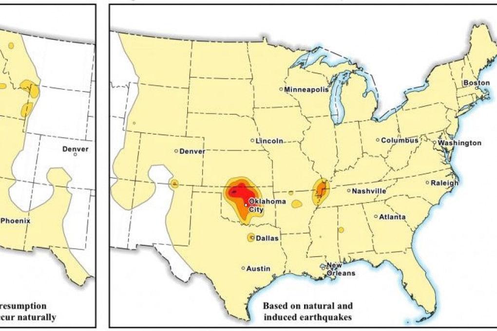 Le mappe del rischio di terremoti indotti dall'uomo