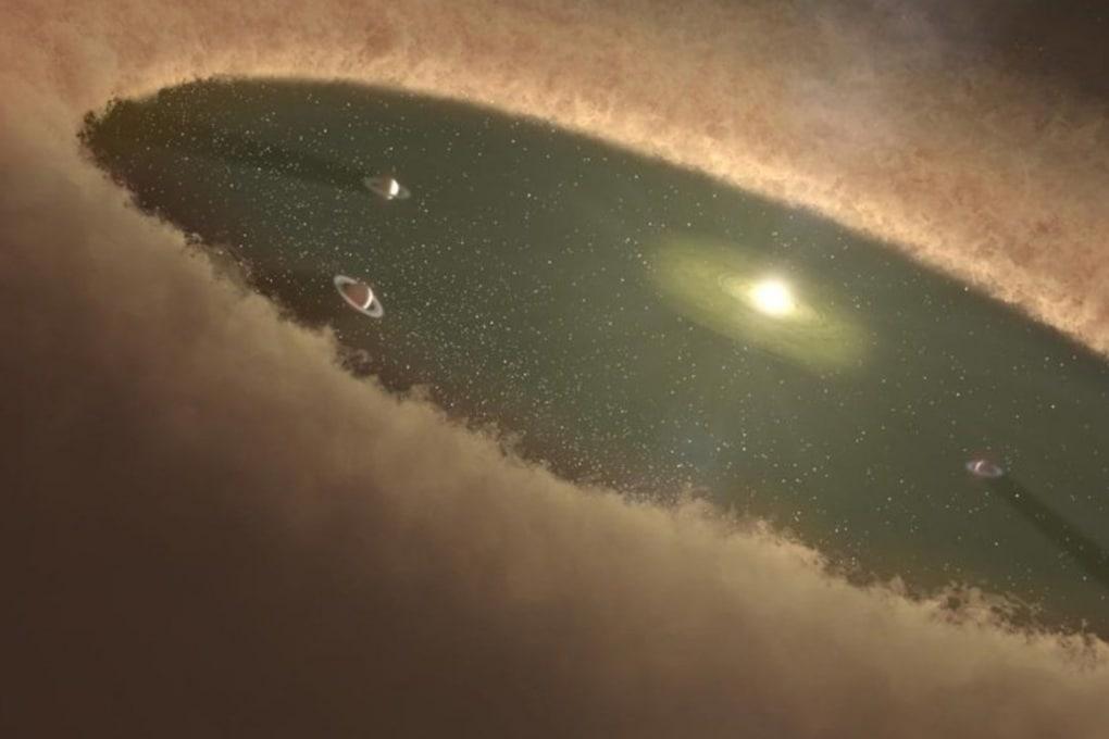 La fotografia dei primi istanti di un pianeta