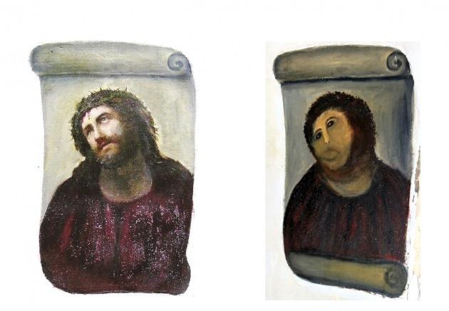 Le opere d'arte danneggiate per errore