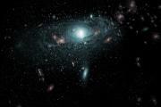 Centinaia di galassie occultate dalla Via Lattea