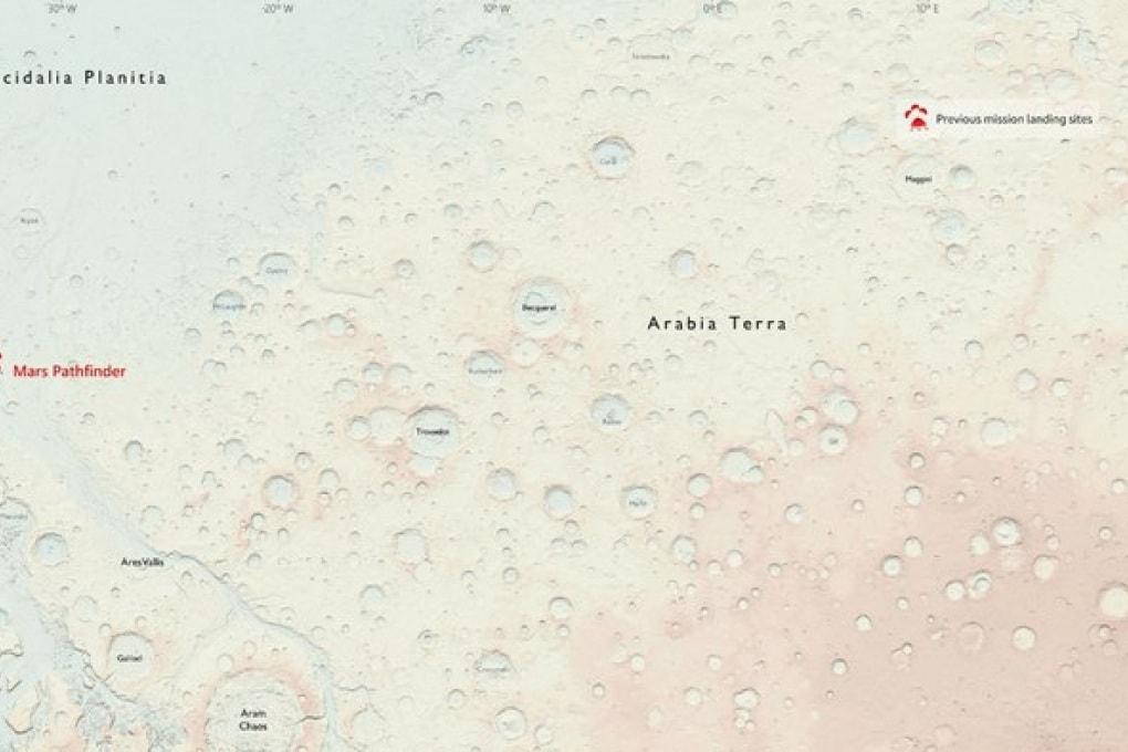 Marte, la prima mappa per l'esplorazione umana