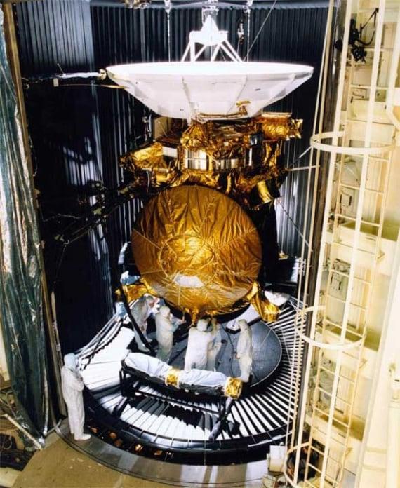 La sonda Cassini prima della partenza