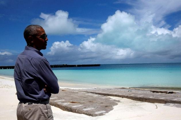 La Casa Bianca invasa dagli oceani (su Instagram)