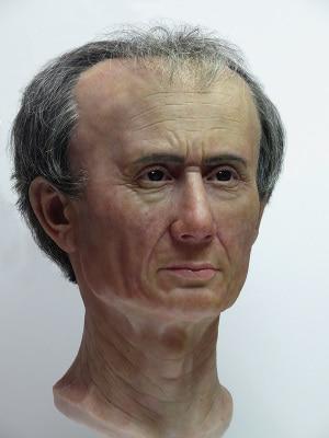 ritratto di Giulio Cesare in 3D