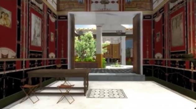 Pompei l 39 interno di una casa ricostruito in 3d for Case moderne sotto 2000 piedi quadrati