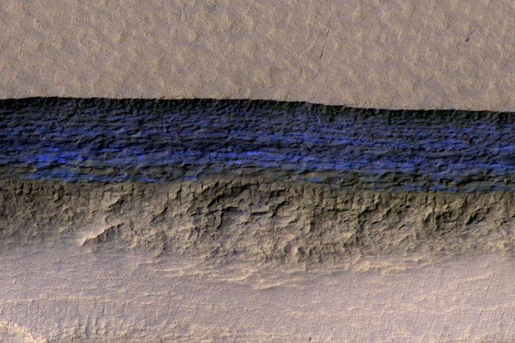 Studiati i grandi ghiacciai di Marte