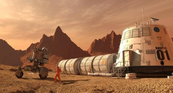 Marte, Pianeta Rosso, simulazione di vita su Marte