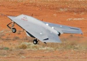 Modello del drone Taranis della BAE System
