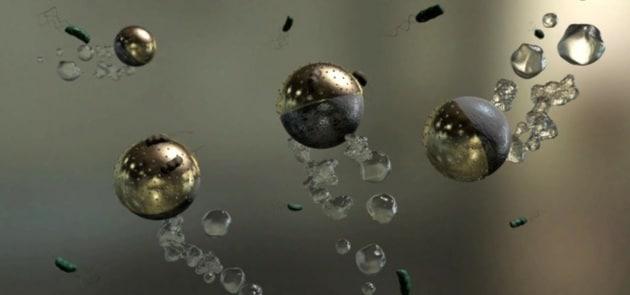 Micro-robot ripuliscono l'acqua in cui nuotano