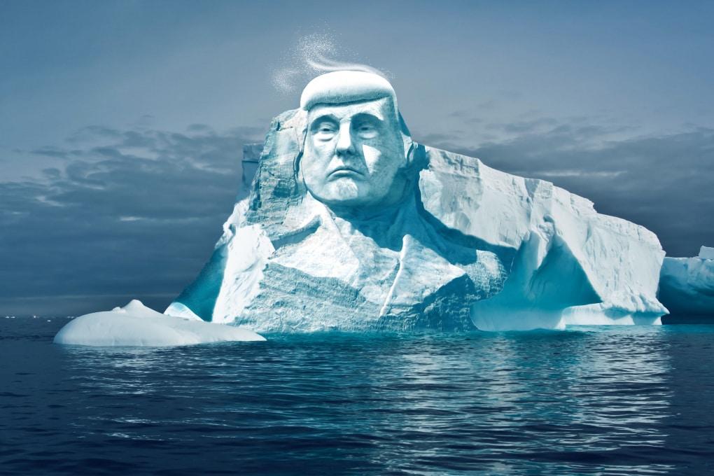 Project Trumpmore: la faccia di Donald scolpita nei ghiacci artici
