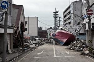 Una foto del disastro di Fukushima, 2011. L'obiettivo di Xprize è creare robot da inviare in caso di