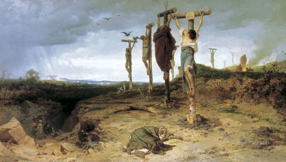 crocifissione, archeologia
