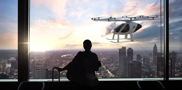Battesimo del volo per il taxi drone senza pilota