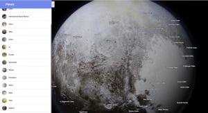 Il pianeta nano Plutone e il suo cuore nella penombra.