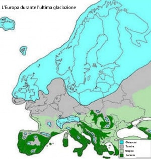 Cartina Italia 20000 Anni Fa.10 000 Anni Fa Alla Fine Dell Ultima Glaciazione Focus It