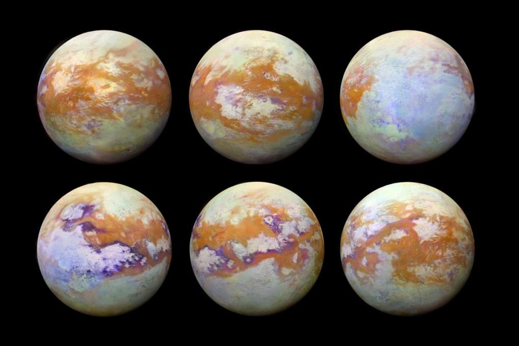 Spettacolari immagini di Titano, la luna di Saturno