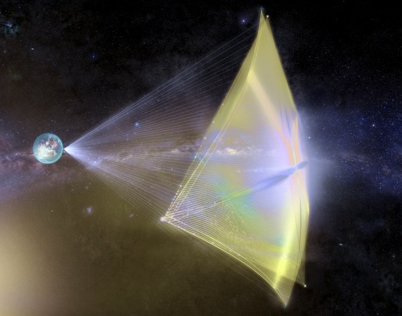 navi stellari, esplorazione dello spazio, SpaceChip, propulsione laser, sonde di esplorazione
