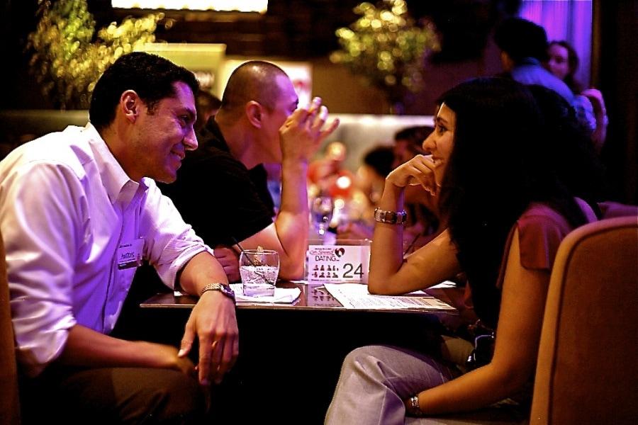 Speed dating scene