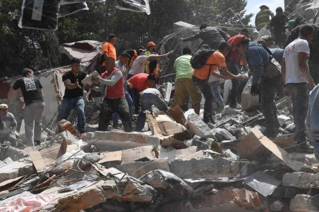 La coppia di tragici terremoti del Messico