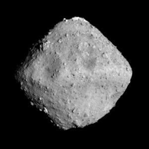L'asteroide Ryugu in una foto scattata ieri dalla sonda.