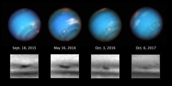 Nettuno, telescopio spaziale Hubble, Sistema Solare, atmosfera di Nettuno, uragani