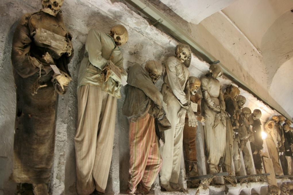 Le mummie della Cripta dei Cappuccini di Palermo.