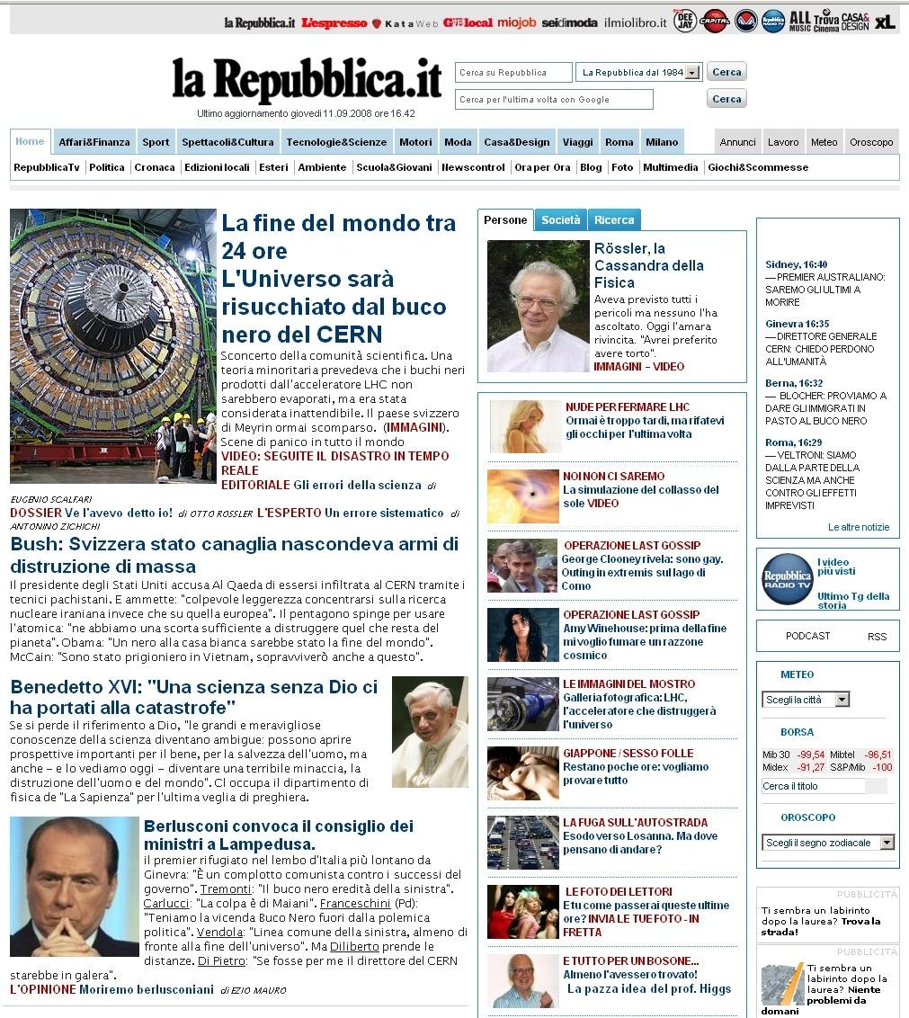 10 volte in cui il mondo sarebbe dovuto finire for Home page repubblica