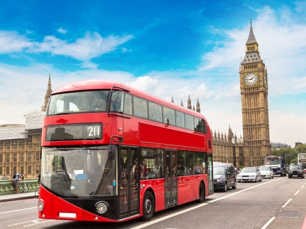 Londra i bus a due piani alimentati a fondi di caff for 30x30 piani di piani a 2 piani