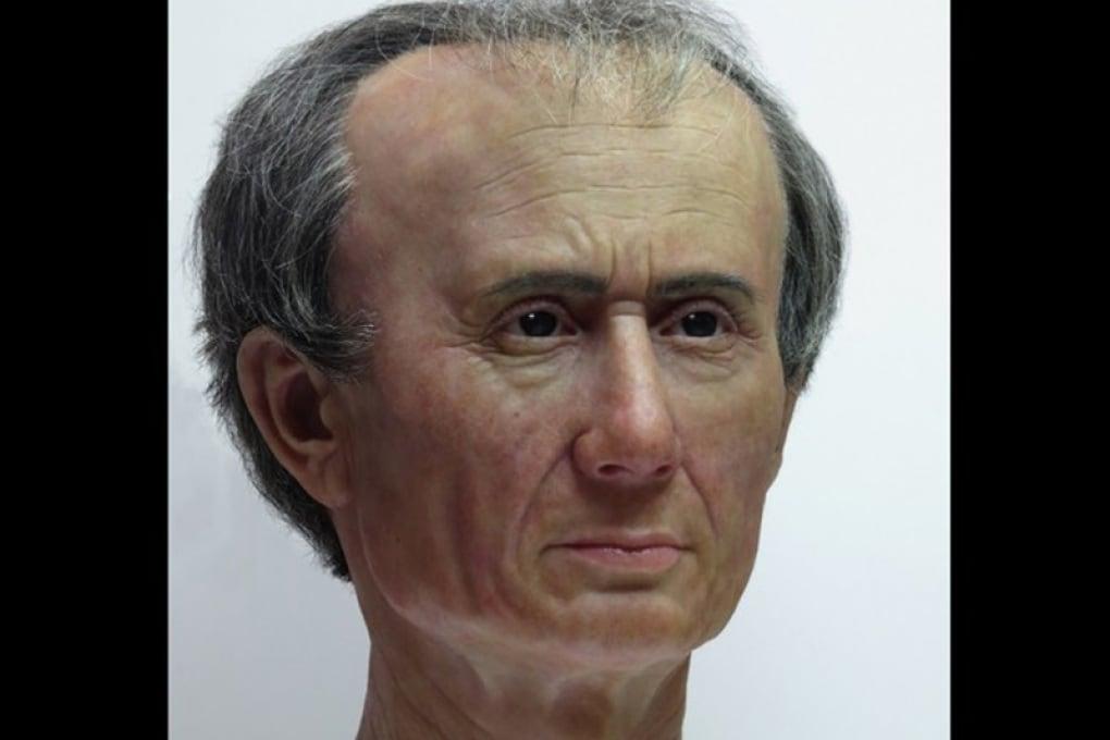 Il volto di Giulio Cesare in 3D