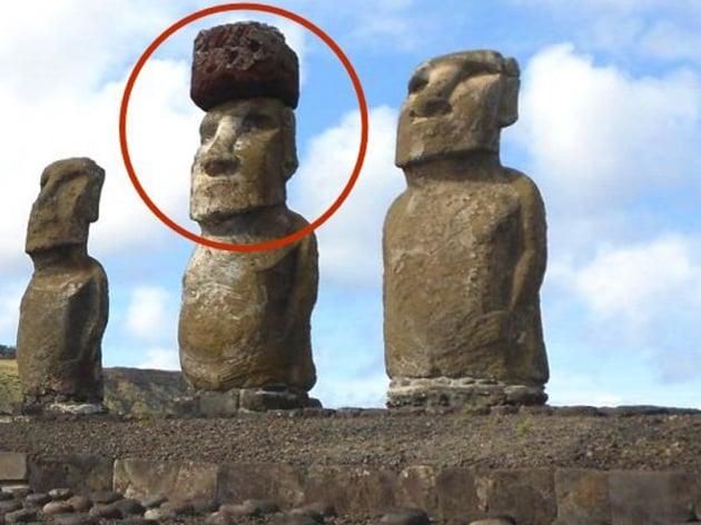 Rapa Nui: i cappelli dei Moai