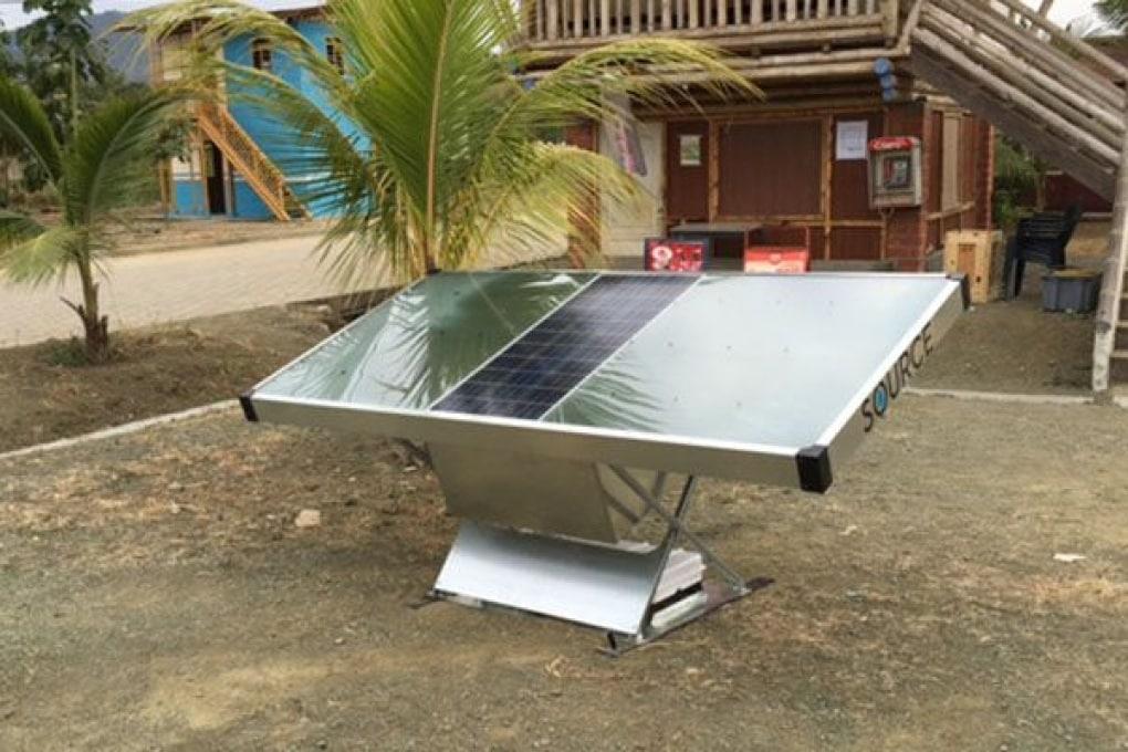 Il pannello solare che produce acqua potabile