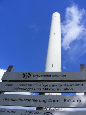 La torre di caduta dell'università di Brema, dove il sistema è stato testato.