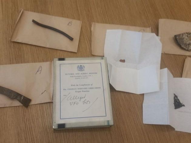 Frammenti di un UFO perduto (e fasullo) in un museo londinese