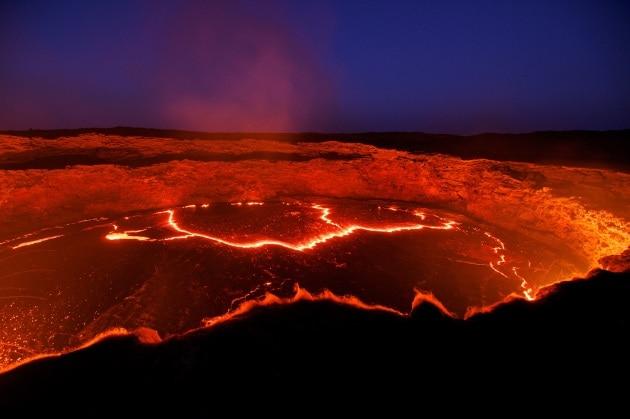 Una nuova frattura nella zona vulcanica dell'Erta Ale
