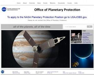 nasa, ufficio di protezione planetaria, esplorazione dello spazio, contaminazione, esobiologia