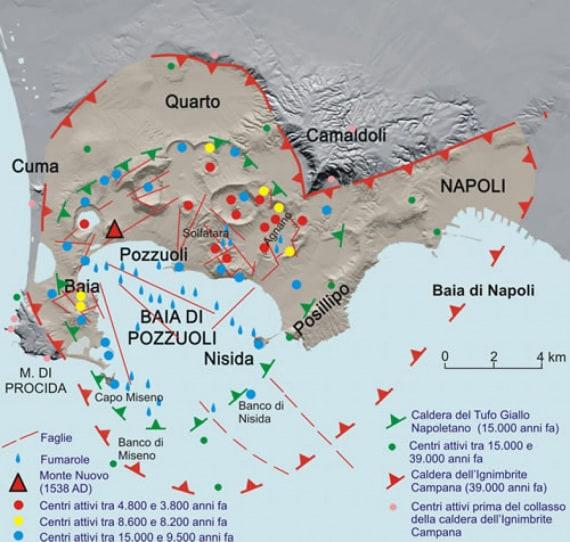vulcani, vulcanologia, eruzioni vulcaniche, Campi Flegrei, supervulcani, caldera, geologia, INGV