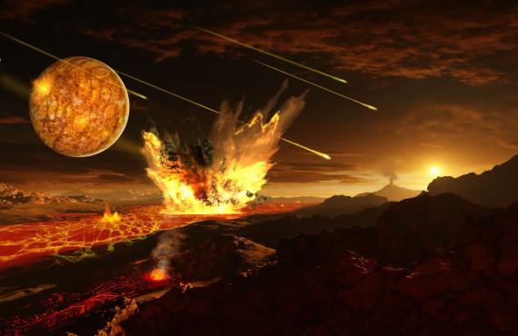intenso bombardamento tardivo, archeano, origine della vita sulla Terra