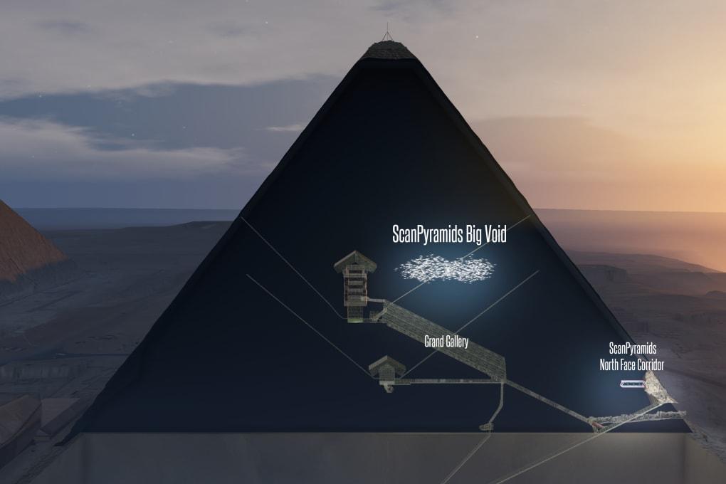 I raggi cosmici rivelano l'esistenza di due camere segrete nella Piramide di Cheope
