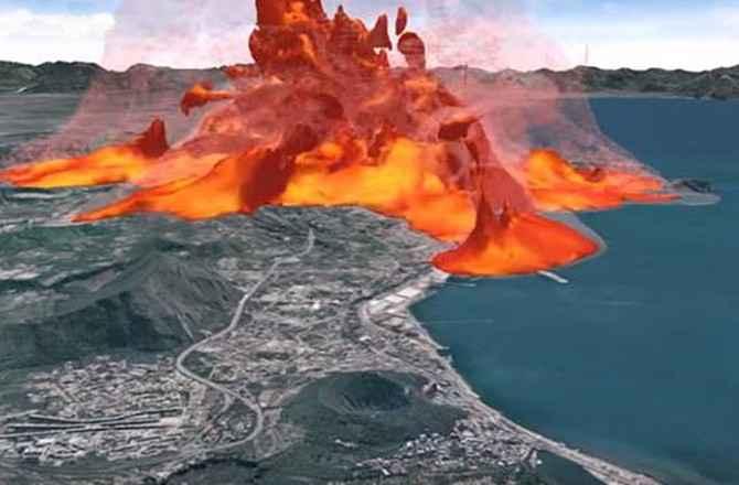 Risultati immagini per magma, caldera campi flegrei