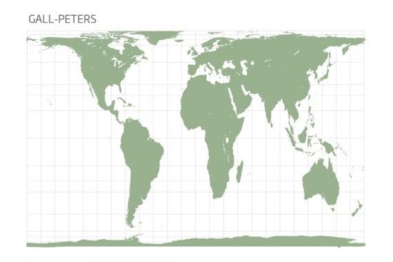 La mappa Gall Peters