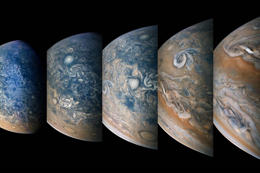 L'emisfero nord di Giove in una fotosequenza